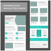 conception de modèle de courrier électronique de marketing de services commerciaux vecteur