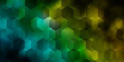 modèle vectoriel bleu clair, vert dans un style hexagonal.
