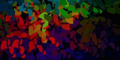 texture de vecteur vert foncé, rouge avec des formes de memphis.