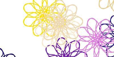 disposition naturelle de vecteur rose clair, jaune avec des fleurs.
