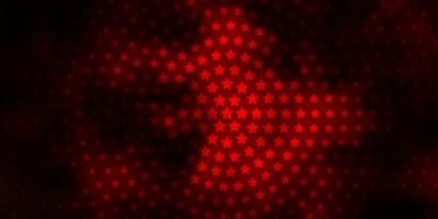 modèle vectoriel orange foncé avec des étoiles abstraites.