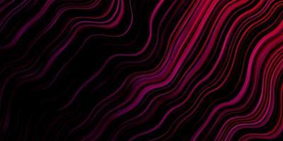texture de vecteur violet foncé, rose avec des lignes ironiques.