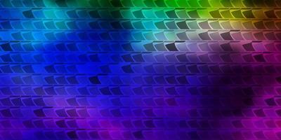 fond de vecteur multicolore sombre avec des rectangles.