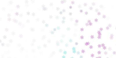 fond de doodle vecteur rose clair, bleu avec des fleurs.