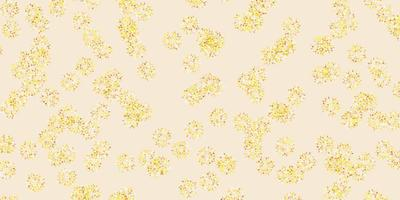 disposition naturelle de vecteur jaune clair avec des fleurs.