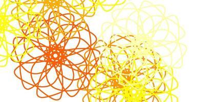 disposition naturelle de vecteur rouge et jaune clair avec des fleurs.