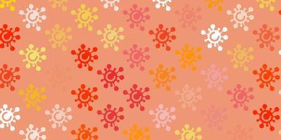 modèle vectoriel orange clair avec des signes de grippe.