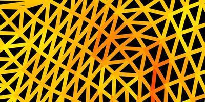 fond polygonale vecteur orange clair.