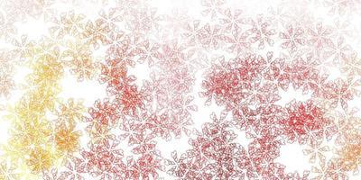 toile de fond abstraite vecteur orange clair avec des feuilles.