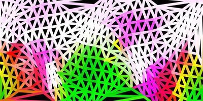 papier peint polygone dégradé vecteur rose clair, vert.