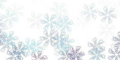 illustration abstraite de vecteur bleu clair, rouge avec des feuilles.