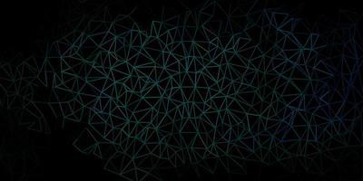 toile de fond mosaïque triangle vecteur vert foncé.