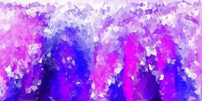 Disposition de triangle poly violet clair, rose. vecteur
