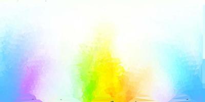 fond d'écran de polygone dégradé vecteur multicolore clair.