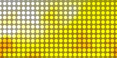 modèle vectoriel orange clair avec des cercles