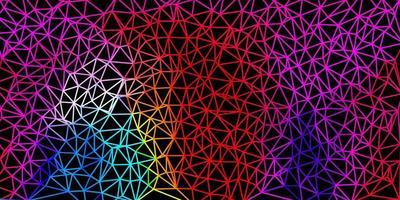 motif polygonal de vecteur multicolore sombre.