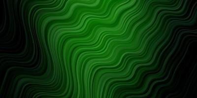 toile de fond de vecteur vert foncé avec des lignes pliées.