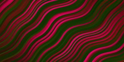 modèle vectoriel rose foncé, vert avec des lignes.