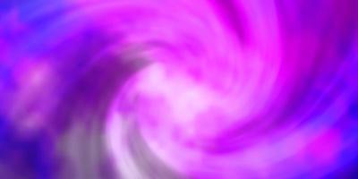 toile de fond de vecteur violet clair avec cumulus.