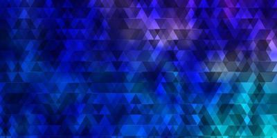 modèle vectoriel rose clair, bleu avec des lignes, des triangles.