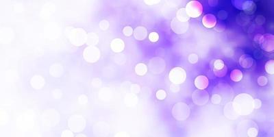 toile de fond de vecteur violet clair avec des cercles.