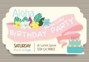 Vecteur d'invitation fête d'anniversaire polynésien
