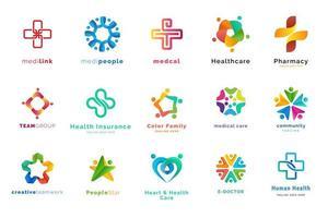 ensemble de modèles de conception de logo vecteur