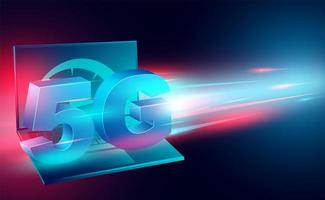 Internet haut débit avec bannière de technologie 5g vecteur