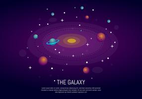 Le fond de Galaxy Ultra Violet vecteur