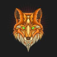 illustration vectorielle de tête de renard