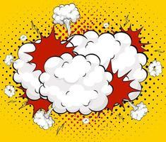 bulle de dialogue bande dessinée boom vide vecteur