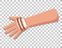 bras de blessure avec de la gaze vecteur