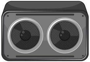 haut-parleur ou radio isolé sur fond blanc