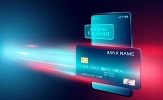bannière de concept de paiement en ligne par carte de crédit