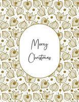 joyeux Noël. Physalis hiver cerise transparente motif texture de fond. vecteur