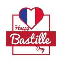 lettrage du jour de la bastille avec style de dessin de main