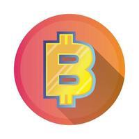 icône de style détaillé symbole bitcoin