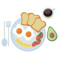 conception de vecteur oeuf et pain de petit déjeuner