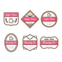 Collection de Vector Badges café