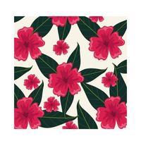 fleurs roses plantes de fond tropical vecteur