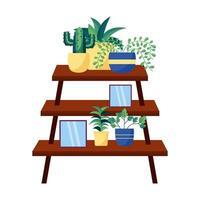 conception de vecteur de plantes et de meubles