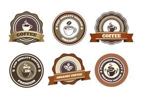 collection de vecteur de badge café