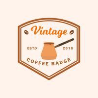 Vecteur de Badge café Vintage plat