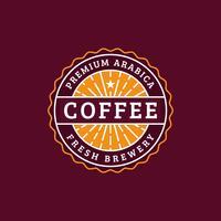 Badge de café vintage
