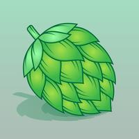 Houblon, plante, illustration, plante