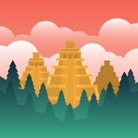 El-Dorado Illustration de la ville perdue d'or vecteur