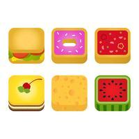 Vecteur d'icône app alimentaire