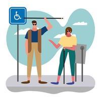 couple aveugle dans la rue