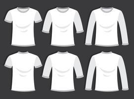 Vecteur de modèle de T-shirt blanc blanc