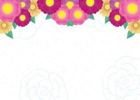 cadre décoratif de fleurs et de feuilles vecteur